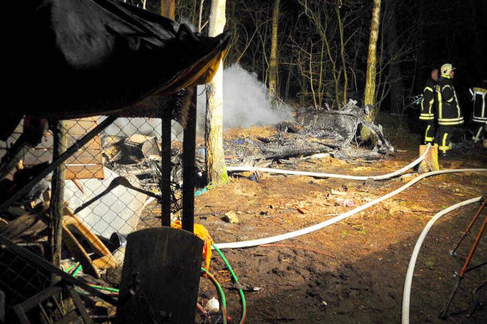Feuer in Wohnwagen ausgebrochen: Leiche gefunden!
