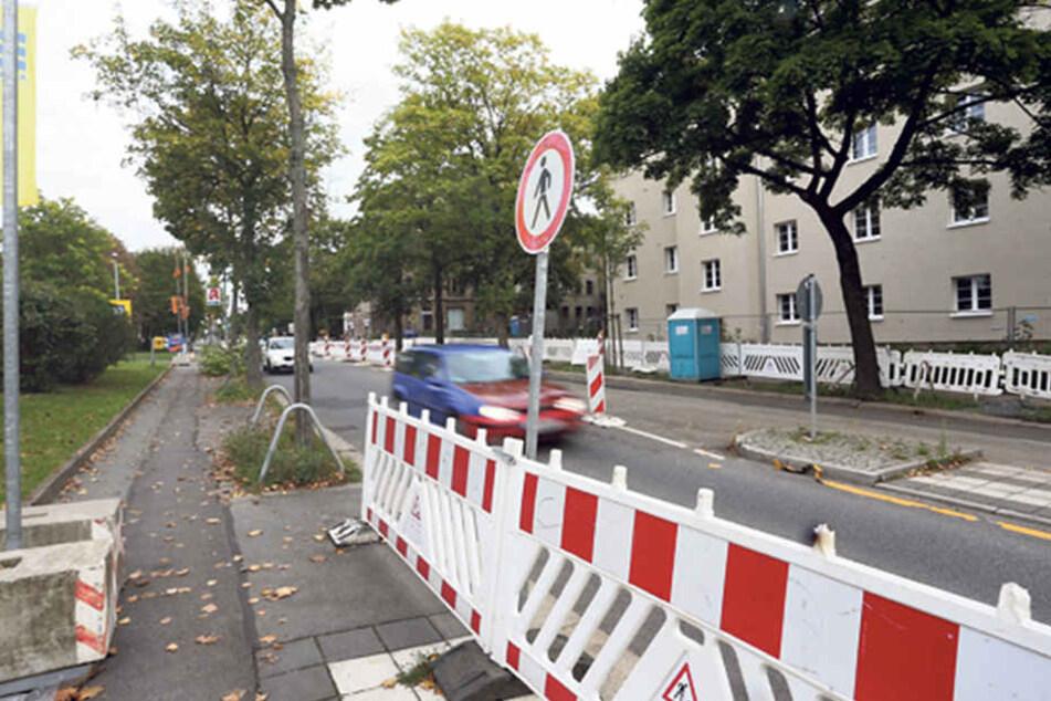 Auf der Heinrich-Schütz-Straße brauchen Autofahrer ebenfalls starke Nerven.