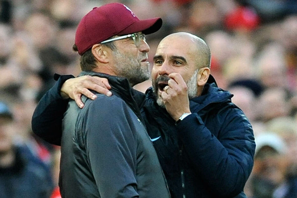 Kennen und schätzen sich seit ihrer gemeinsamen Zeit in der Bundesliga. Jürgen Klopp und Pep Guardiola. Am kommenden Sonntag treffen die beiden ein weiteres Mal mit ihren Teams aufeinander.