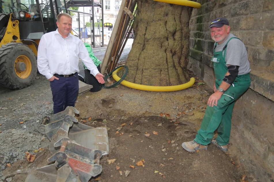 Bauarbeiter Siggi buddelte in Dresden den wertvollen Waffenschatz aus