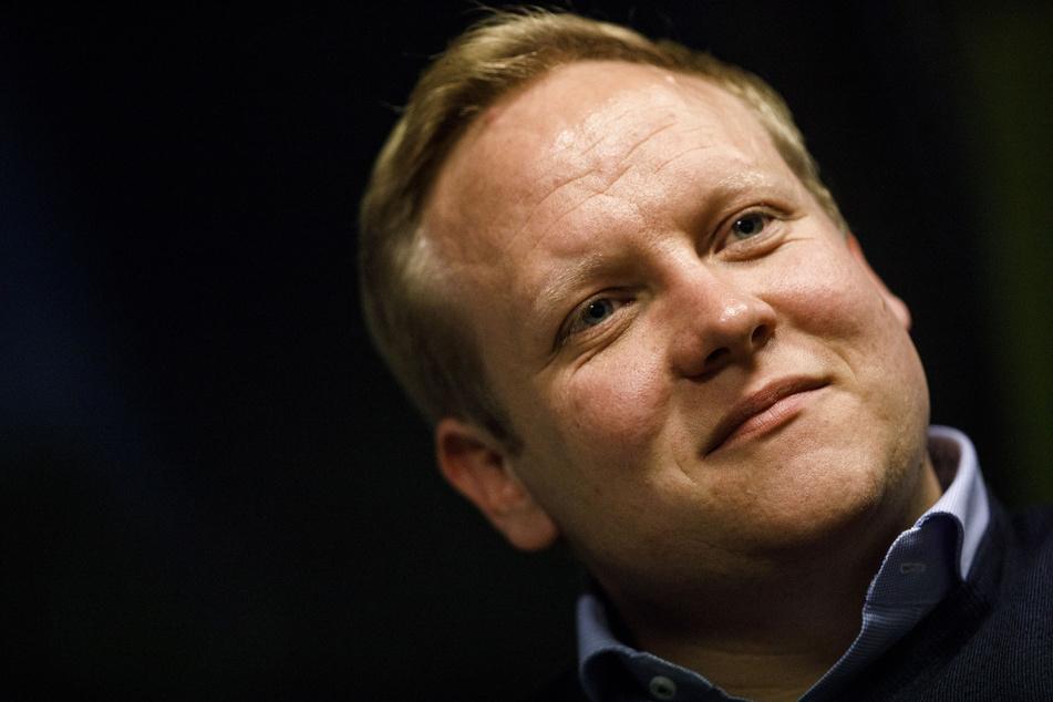 """Tilman Kuban, Vorsitzender der Jungen Union, nimmt an der Diskussionsrunde """"Berliner Salon"""" teil."""