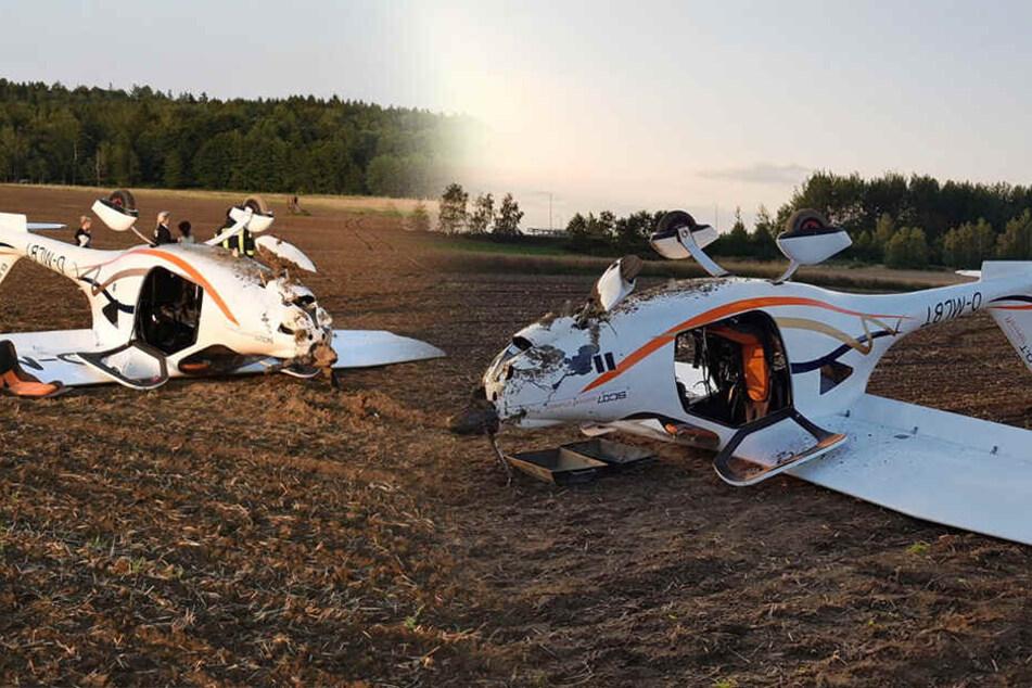 Flugzeug muss auf Feld nahe Zittau notlanden: Zwei Verletzte