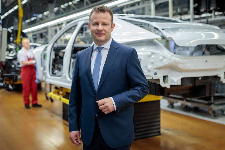 Gerd Rupp, neuer Porsche-Chef in Leipzig, voll die E-Mobilität ausbauen.