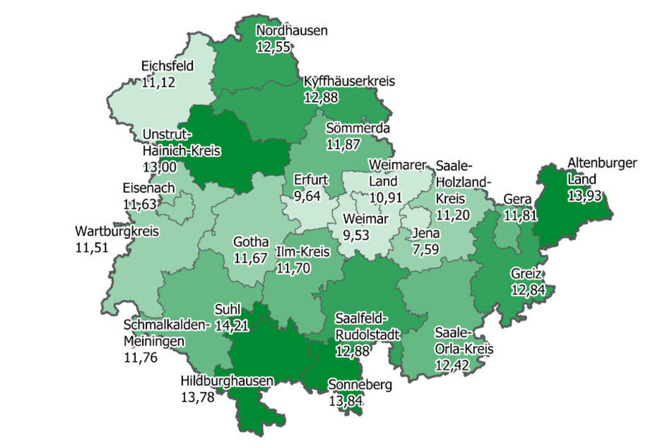 In Thüringen leben die meisten Diabetiker im Kreis Suhl.