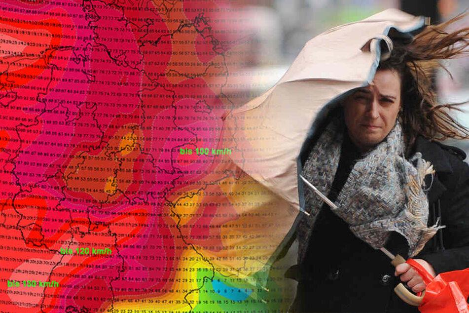 Der deutsche Wetterdienst warnt vor dem ersten Orkan des Jahres.