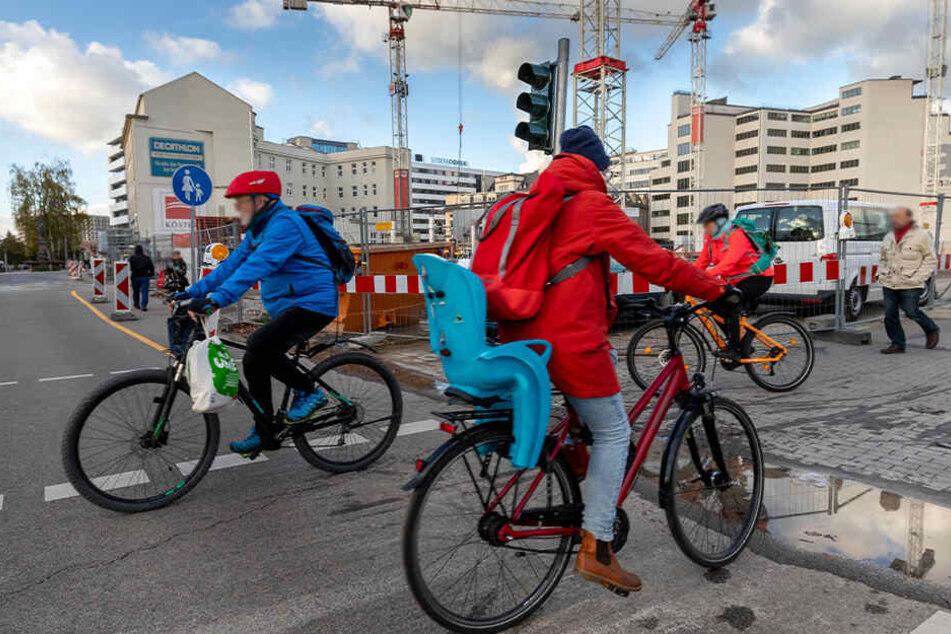 Chemnitz: Uni will es wissen: Wie gefährlich ist Radfahren in Chemnitz?