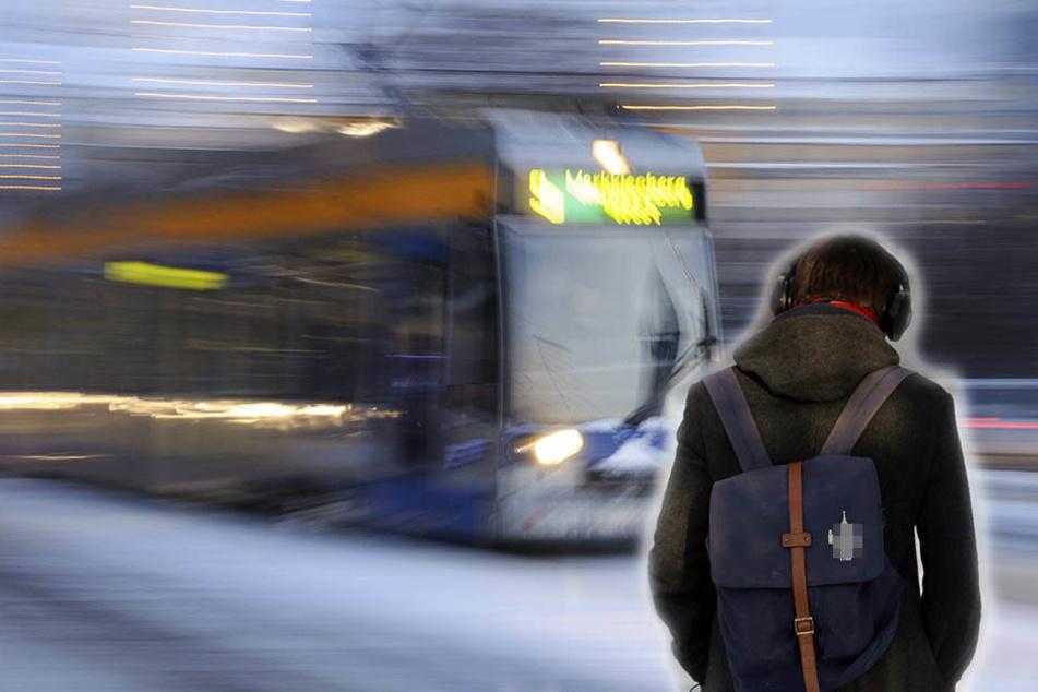 Auf der Eisenbahnstraße wurde ein Mann (34) von einer Straßenbahn erfasst. Wahrscheinlich lenkte ihn die Musik aus seinen Kopfhörern beim Überqueren der Straße ab. (Symbolbild)