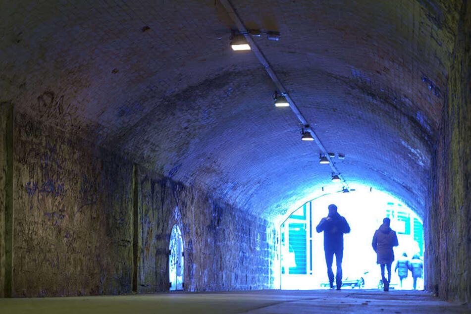 Grusel-Tunnel: Chemnitzer kennen die 217 Meter lange Bazillenröhre nur zu gut.