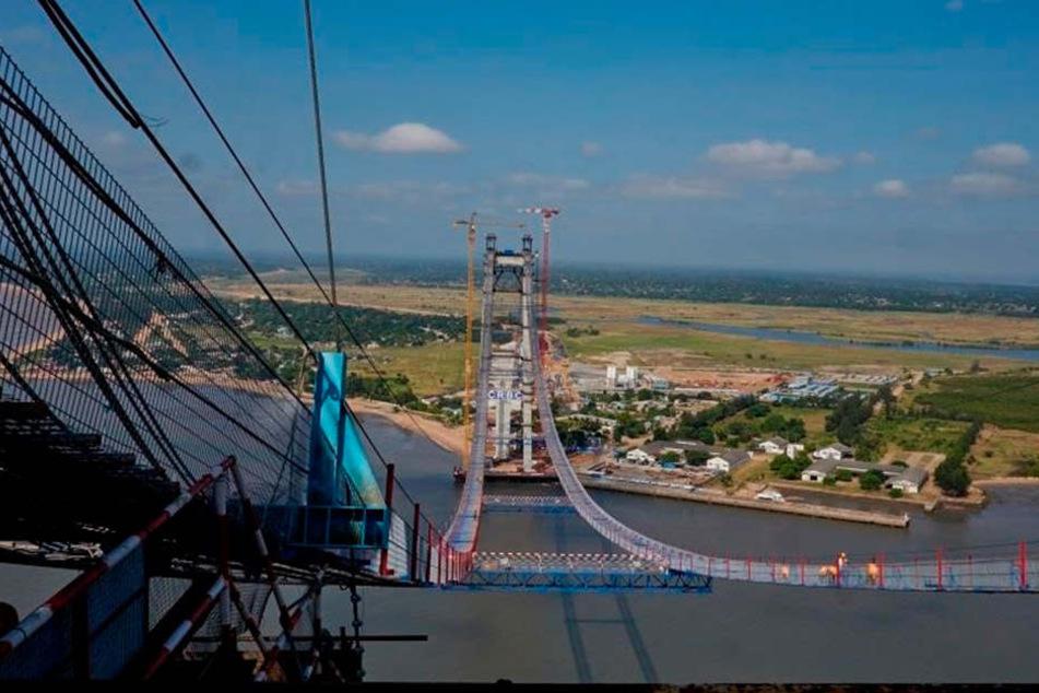 Die längste Hängebrücke Afrikas.