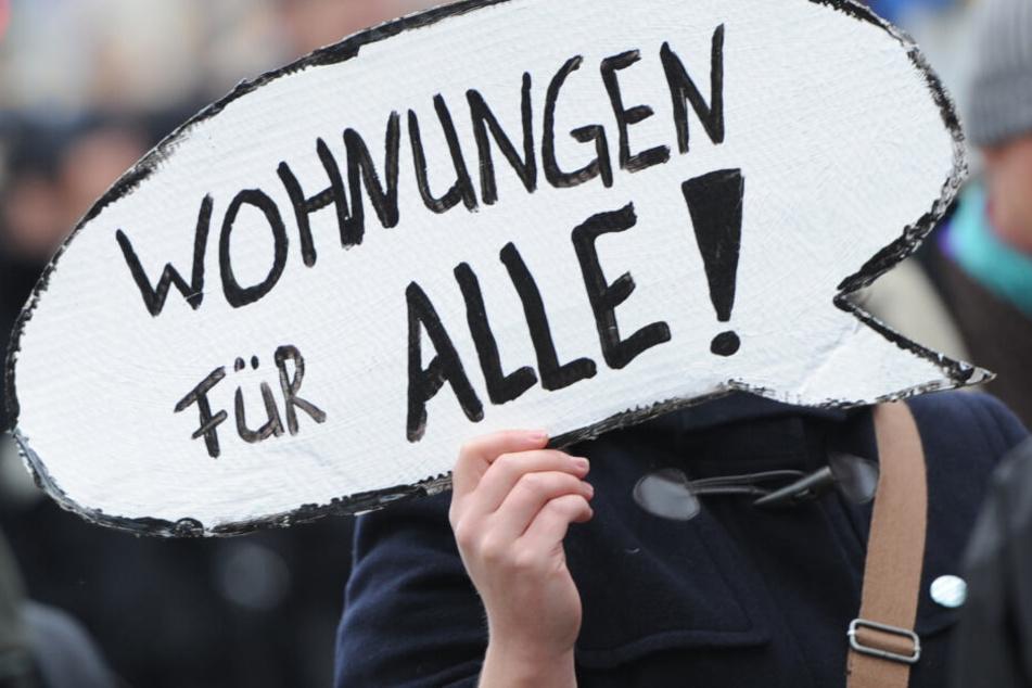 Die Protestierenden wollen auf steigende Wohnungskosten aufmerksam machen. (Symbolbild)