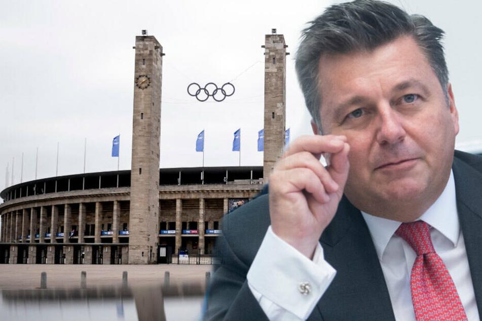 Andreas Geisel macht Hertha wenig Hoffnung auf eine eigene Arena neben dem Olympiastadion.