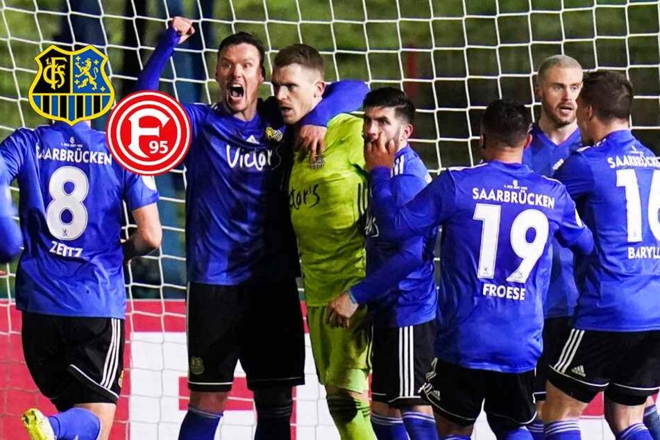 Irrer Elfer-Krimi! 1. FC Saarbrücken bezwingt Düsseldorf und zieht ins Pokal-Halbfinale ein