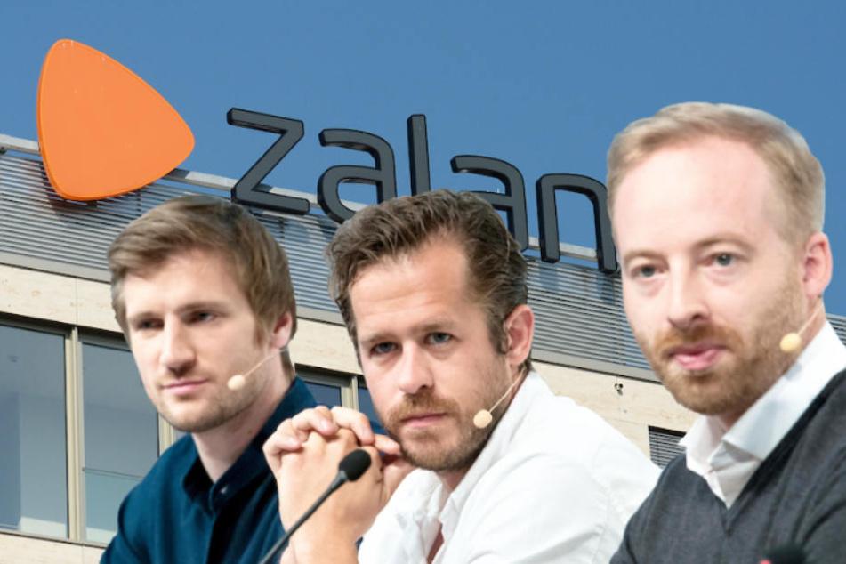 Die drei Zalando-Chefs David Schneider, Robert Gentz und Rubin Ritter (v. li.).