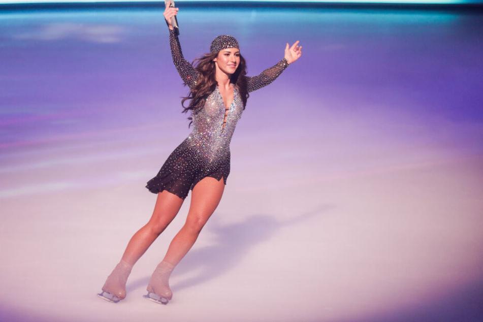 Bei Dancing on Ice war die sportlichere Figur von Sarah Lombardi gut zu sehen.
