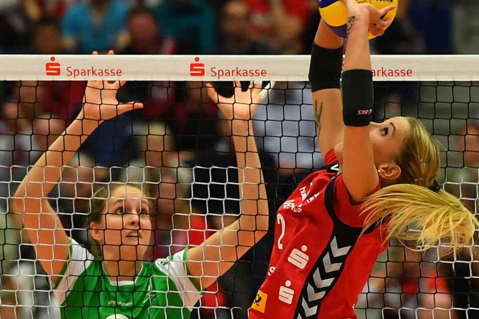 Im ersten Heimspiel der neuen Saison geht es gegen Münster. Mareen Apitz wird wieder für den DSC am Ball sein.