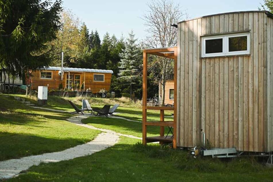 """In Mehlmeisel im Fichtelgebirge gibt es das erste Tiny House """"Dorf"""" Deutschlands."""