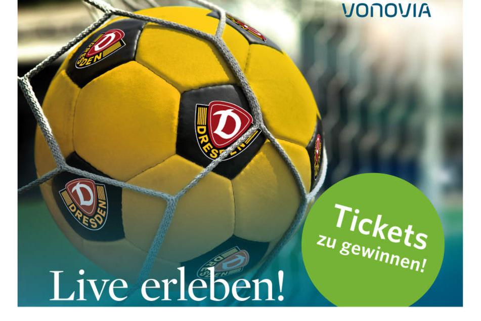 Jetzt mitmachen und Tickets für Dynamo Dresden gegen DSC Arminia Bielefeld gewinnen.