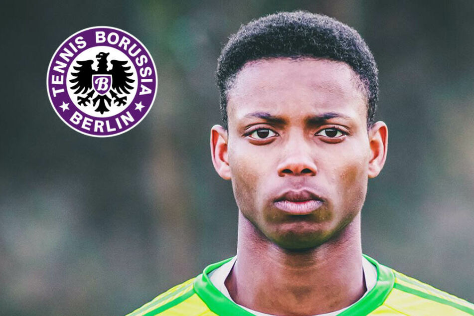 Tennis Borussia Berlin steht unter Schock: Divine Imasuen verletzte sich am Sonntag schwer am Auge.