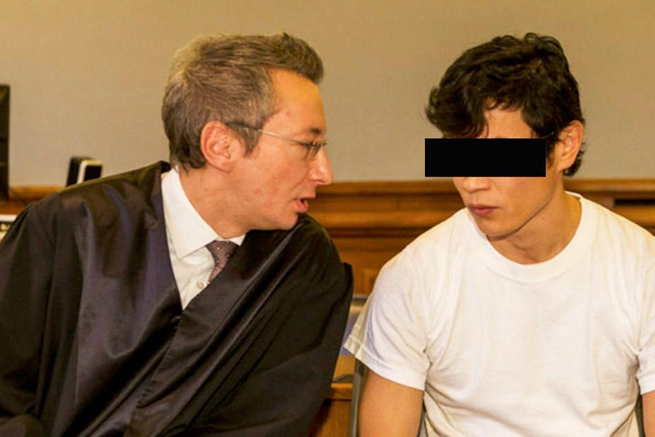 Soll wegen Doppelmordes lebenslang hinter Gitter: Stückel-Killer Dovchin D., hier mit seinem Verteidiger Stefan Wirth, der auf Totschlag plädierte.