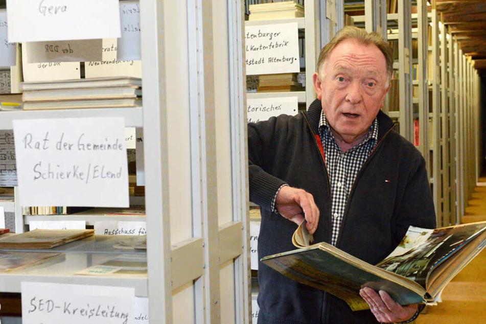 Die Gemeinde Stauchitz kann stolz auf die Peter-Sodann-Bibliothek sein.