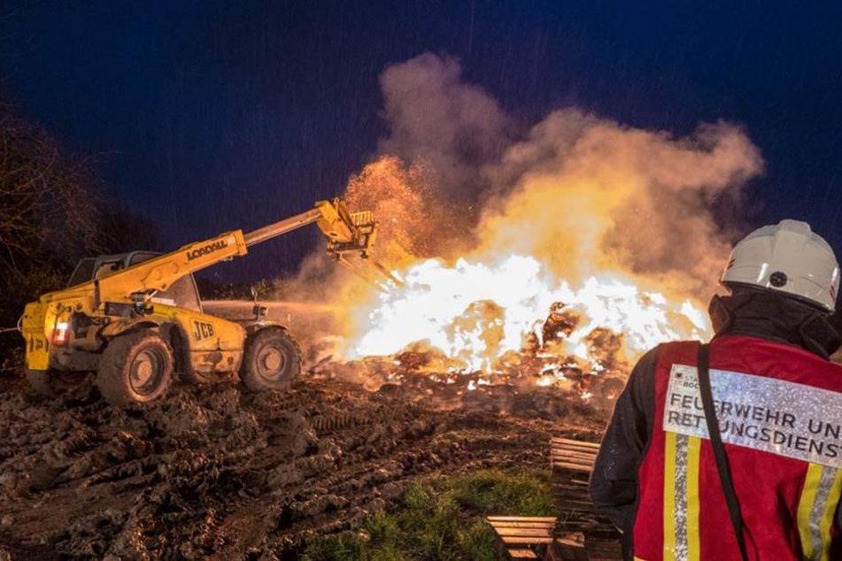 Eine Ausbreitung des Brandes auf Landwirtschaftsmaschinen konnte verhindert werden.