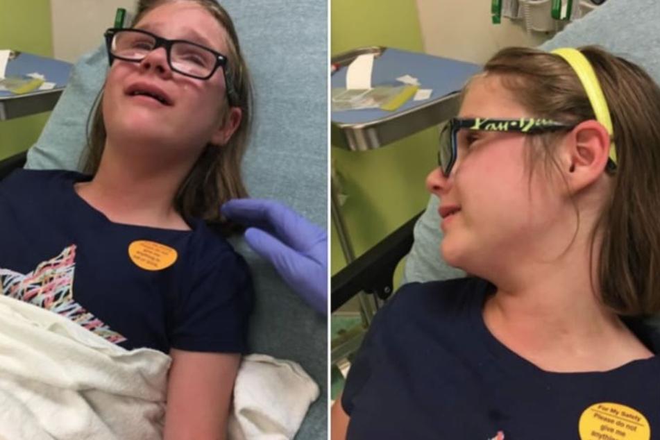 Nachdem Ashley in Kontakt mit einem an Windpocken erkranktem Kind kam, liegt sie auf der Intensivstation.