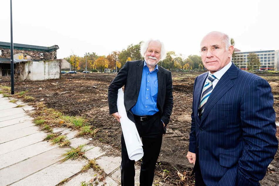 2013 kaufte Reinhard Saal (r.) das Gelände. Damals noch sein Chefplaner: Gottfried Schaaf.