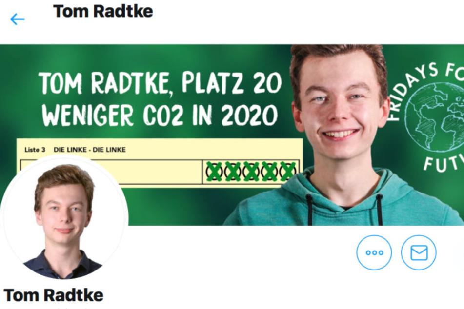 Auf seinem Twitter-Profil veröffentlichte Tom Radtke stündlich erschütternde Aussagen.