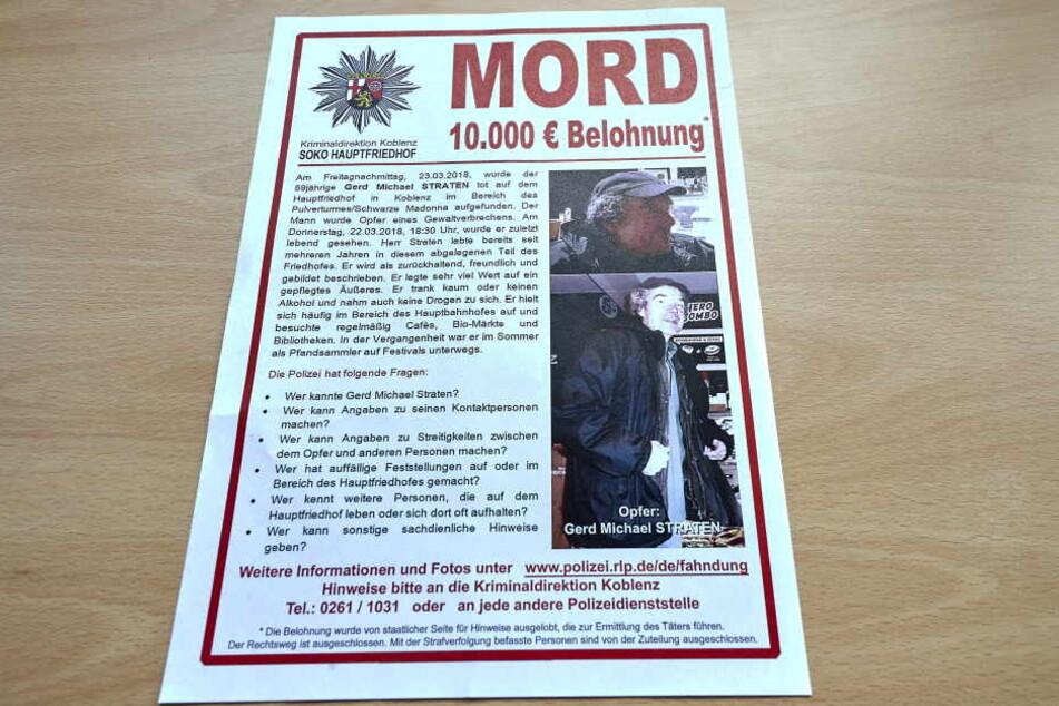 Der Mord an Gerd Michael Straten blieb trotz Belohnung ungeklärt.