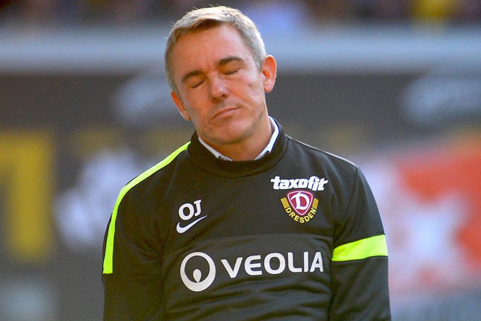 In seiner Zeit bei Dynamo wollte  Olaf Janßen manchmal gar nicht mehr hinsehen. Am Ende konnte er den Abstieg aus  der 2. Bundesliga nicht verhindern.