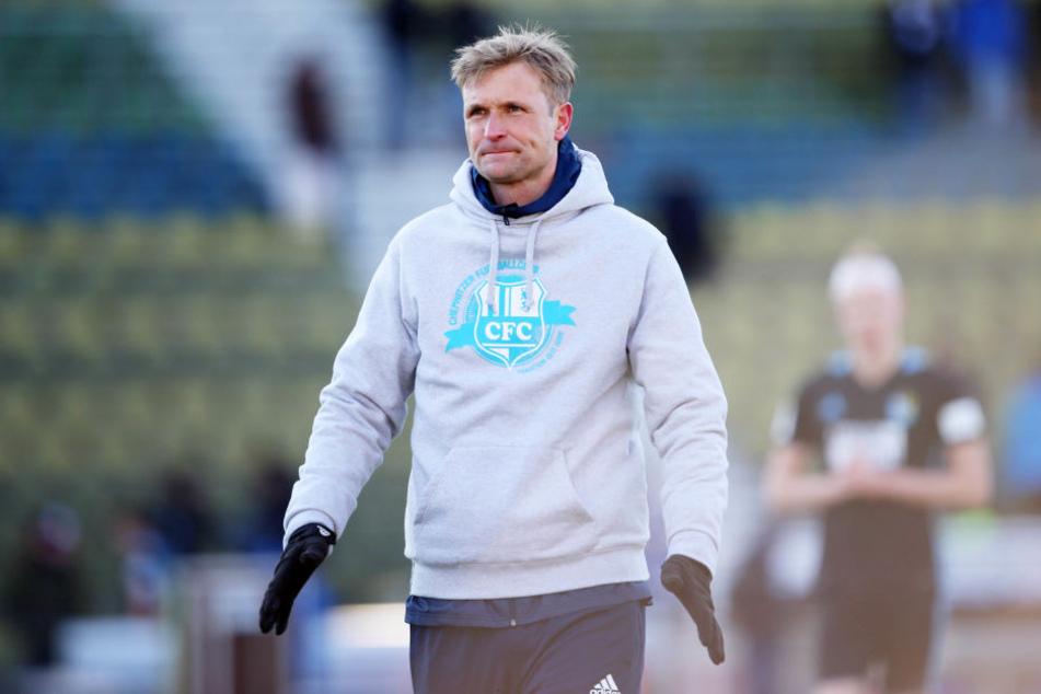 Die Enttäuschung ist dem Chemnitzer Trainer David Bergner anzusehen.