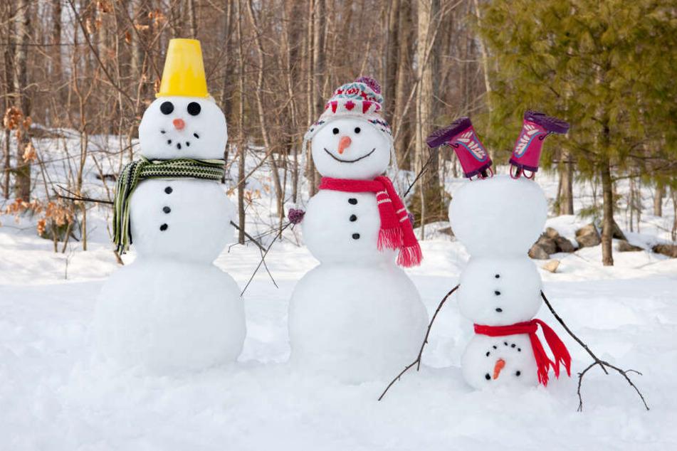 Schneemann können an Heiligabend wohl nur im Gebirge gebaut werden.