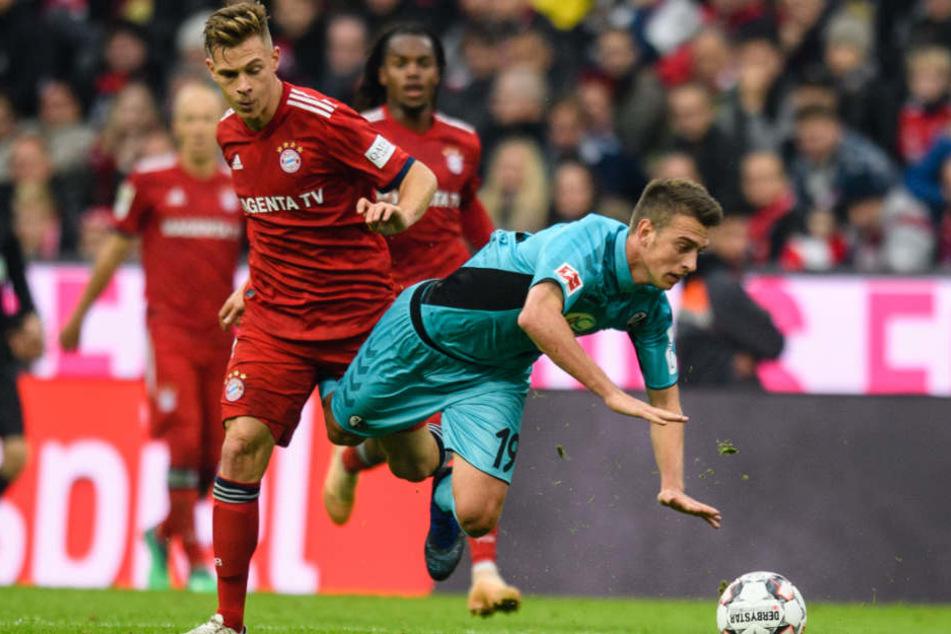 Der SC Freiburg setzte sich in der Allianz Arena mit allen Mitteln gegen Bayern zur Wehr.