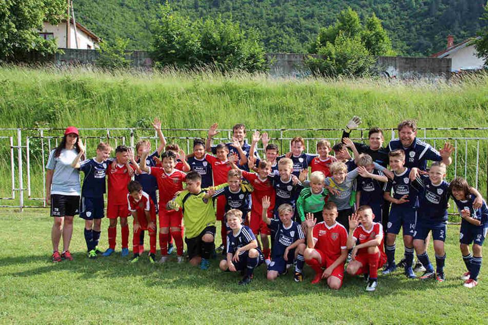 """Für die """"U 12"""" der Heidler Soccer Academy war die Reise nach Sarajevo ein Riesenerlebnis."""