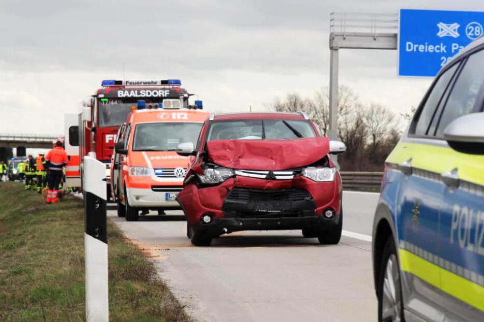Schon wieder: Unfall auf A14 hält Feuerwehr und Notdienst in Atem