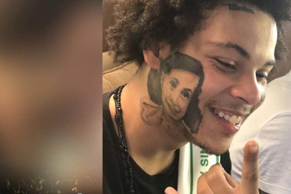 Warum hat dieser Mann ein Anne-Frank-Tattoo im Gesicht?
