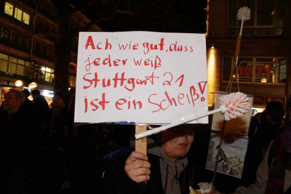 Klare Ansage dieser Demonstrantin.