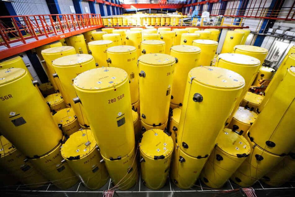 Ein Blick auf die Atommüll-Castoren vor einigen Jahren.