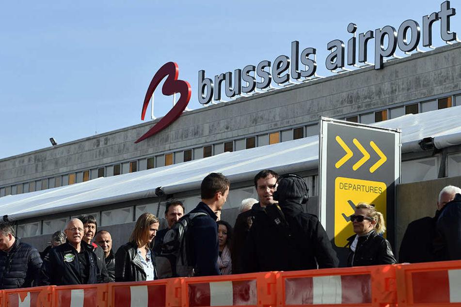 Bombenalarm im Flughafen Brüssel.