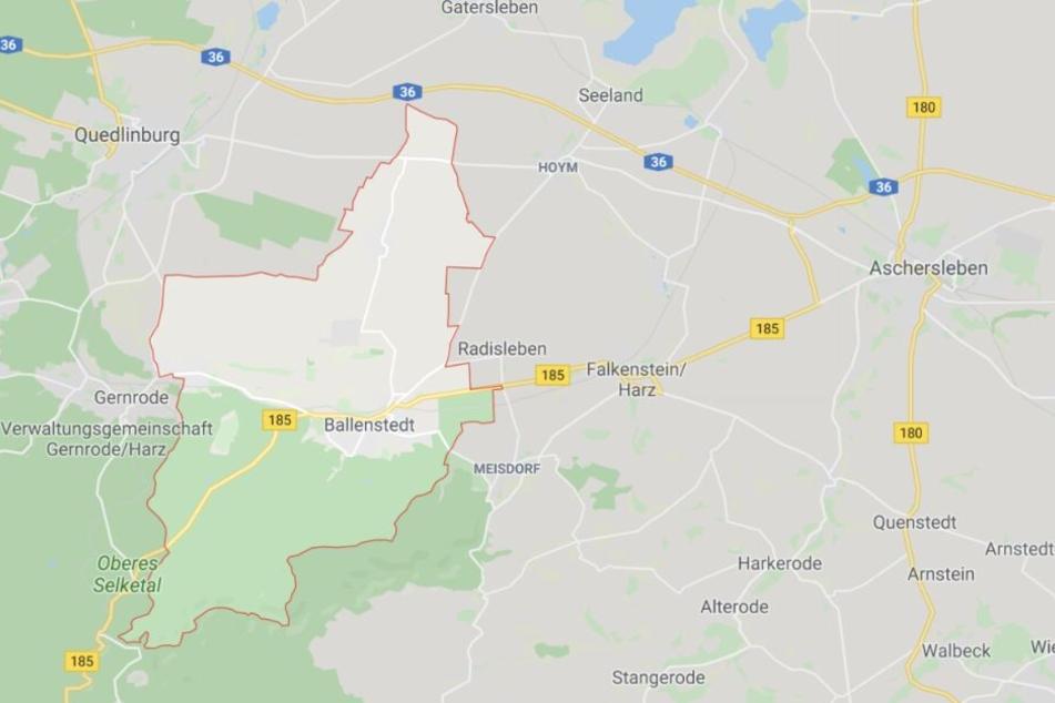 Der Unglücksfall ereignete sich in Ballenstedt bei Quedlinburg im Harz.
