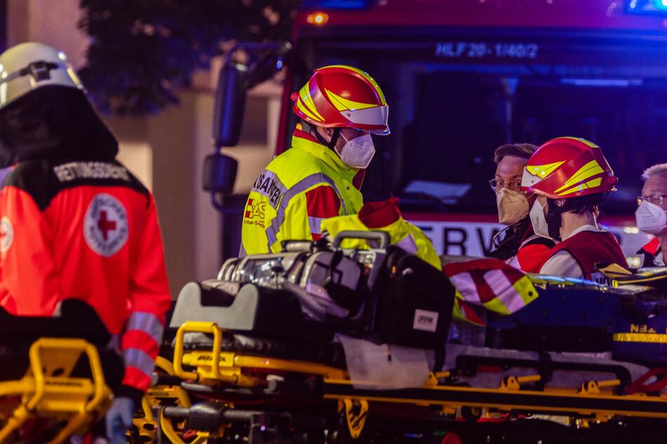 Die Rettungskräfte waren in Nürnberg mit einem Großaufgebot im Stadtteil Maxfeld im Einsatz.