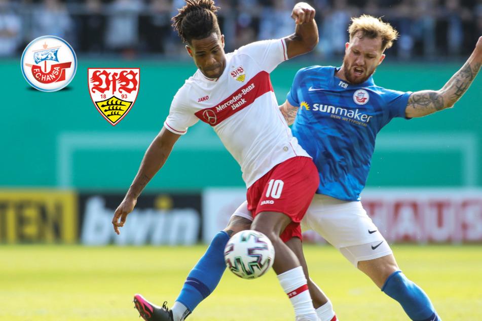Hitziger Pokal-Fight! VfB Stuttgart besteht vor 7500 Fans in Rostocker Hölle