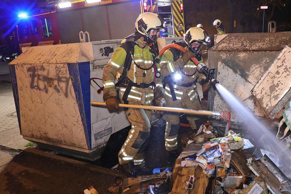 Dresden: Mehrere Containerbrände in Dresden: Hängen die Fälle miteinander zusammen?