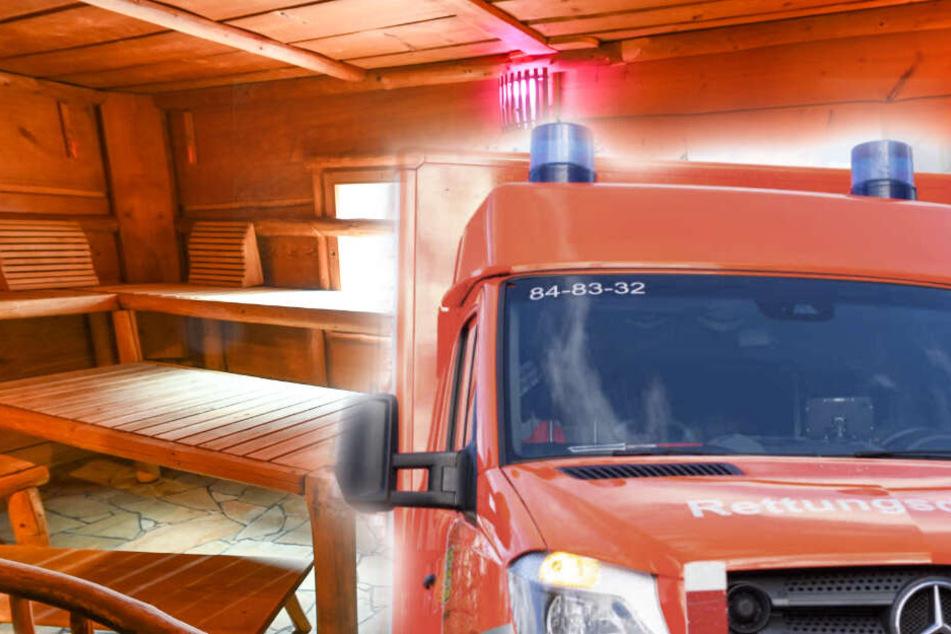 Frau wird in Sauna eingeschlossen und verursacht Feuerwehreinsatz