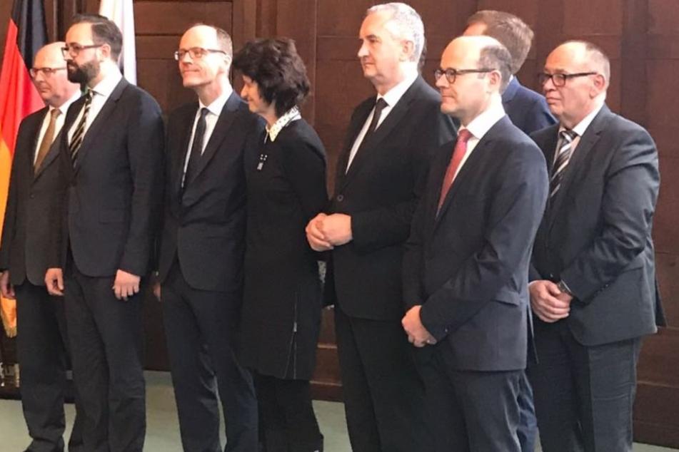Michael Kretschmer und sein neues Kabinett.