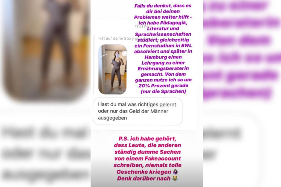 Das Bild zeigt den Screenshot einer Instagram-Story von Anastasiya Avilova.