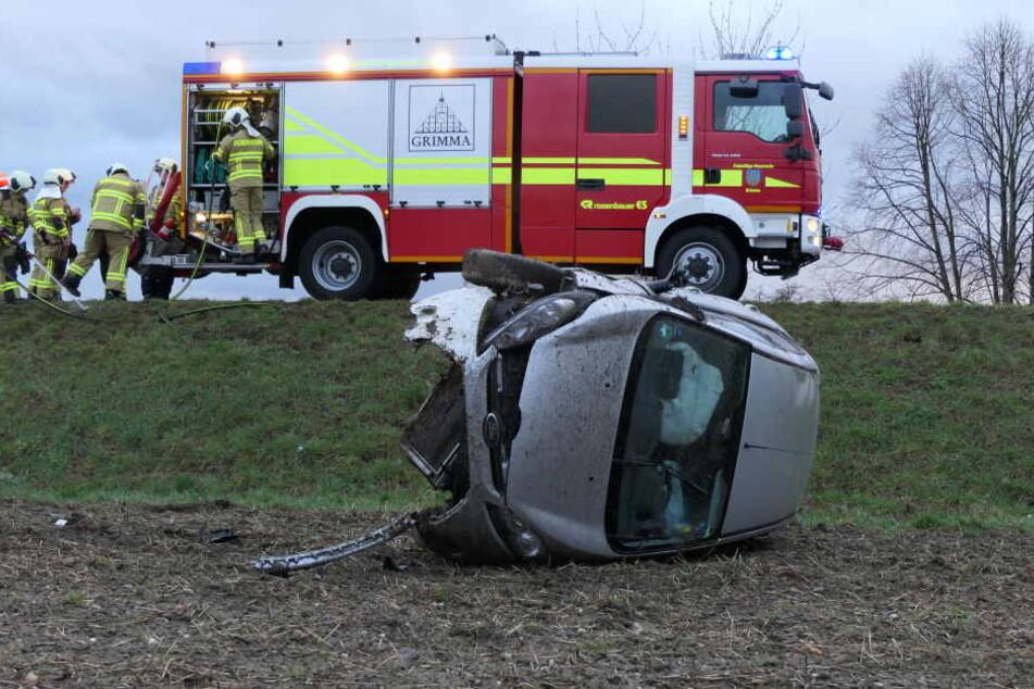 """Bereits im Vorfeld von Sturm """"Eberhard"""" verunglückte ein Feuerwehrkamerad auf der S38 bei Grimma."""