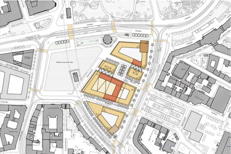 Wohnen, Einkaufen, Lernen: Der Stadtrat erhofft sich ein lebendiges neues Areal im Herzen von Leipzig.