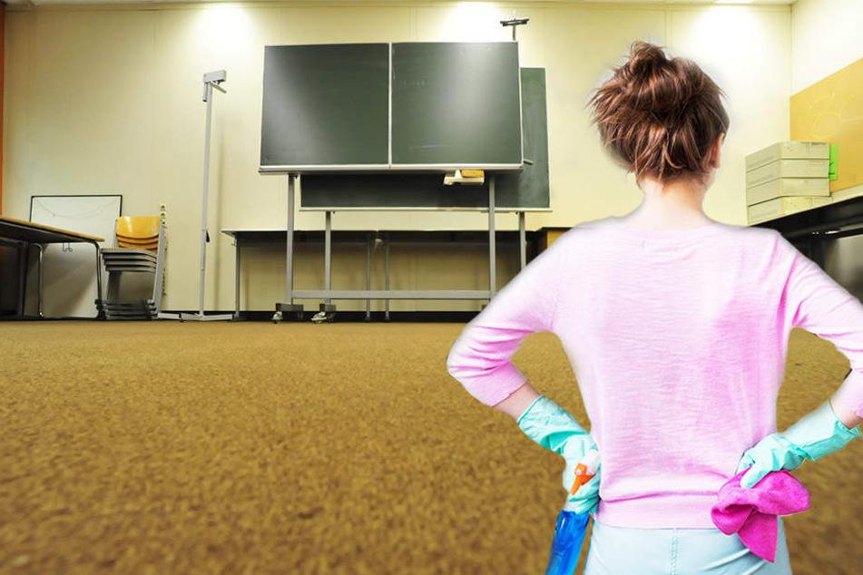 Müssen die Schüler bald selbst zu Eimer und Wischmop greifen?