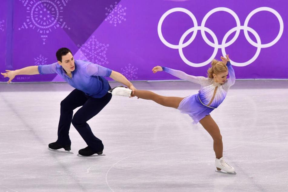Unvergessen: Am 15. Februar 2018 liefen Aljona Savchenko (35) und Bruno Massot (30) bei den Winterspielen in Südkorea die Kür ihres Lebens und holten damit Olympia-Gold.